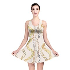 Luxury Chains And Belts Pattern Reversible Skater Dress by tarastyle