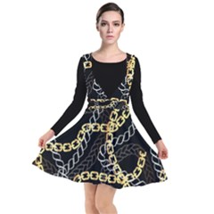 Luxury Chains And Belts Pattern Plunge Pinafore Dress by tarastyle