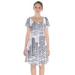 Division A Collection Of Science Fiction Fairytale Short Sleeve Bardot Dress by Sudhe