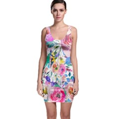 Lovely Pinky Floral Bodycon Dress by wowclothings