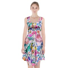 Lovely Pinky Floral Racerback Midi Dress by wowclothings