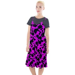 Black And Pink Leopard Style Paint Splash Funny Pattern Camis Fishtail Dress by yoursparklingshop