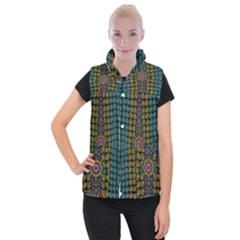 Glass Balls And Flower Sunshine Women s Button Up Vest by pepitasart