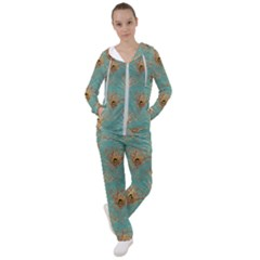 Peacock Glitter Feather Pattern Women s Tracksuit by tarastyle