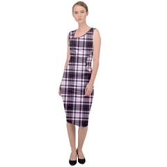 Tartan Pattern Sleeveless Pencil Dress by Pakrebo