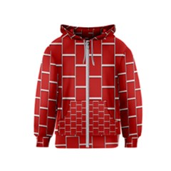 Red Illustrations Background Kids  Zipper Hoodie