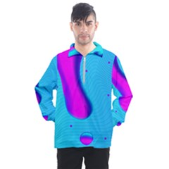 Liquid Abstract Modern Design Men s Half Zip Pullover by Pakrebo