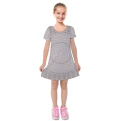 Certificate Rosette Diploma Design Kids  Short Sleeve Velvet Dress