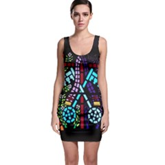 Mosaic Window Rosette Church Glass Bodycon Dress by Pakrebo