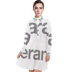 Theranos Logo Long Sleeve Chiffon Shirt Dress by milliahood
