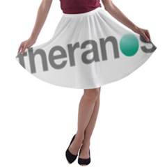 Theranos Logo A Line Skater Skirt by milliahood