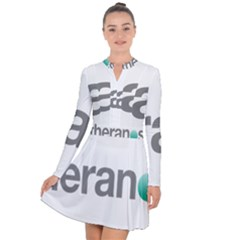Theranos Logo Long Sleeve Panel Dress by milliahood