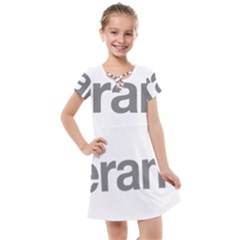 Theranos Logo Kids  Cross Web Dress by milliahood