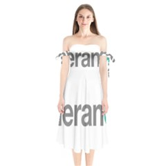 Theranos Logo Shoulder Tie Bardot Midi Dress by milliahood