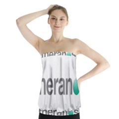 Theranos Logo Strapless Top by milliahood