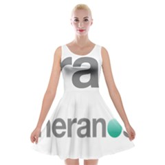 Theranos Logo Velvet Skater Dress by milliahood