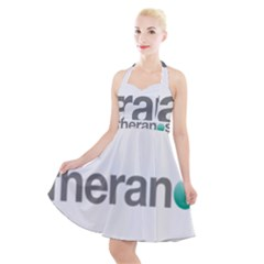 Theranos Logo Halter Party Swing Dress  by milliahood