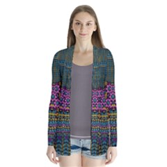 The  Only Way To Freedom And Dignity Ornate Drape Collar Cardigan by pepitasart