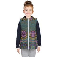 The  Only Way To Freedom And Dignity Ornate Kids  Hooded Puffer Vest by pepitasart