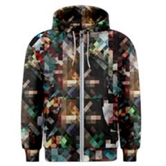 Abstract Texture Desktop Men s Zipper Hoodie