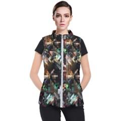 Abstract Texture Desktop Women s Puffer Vest by HermanTelo