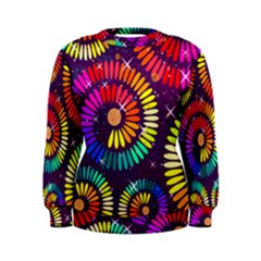 Abstract Background Spiral Colorful Women s Sweatshirt by HermanTelo