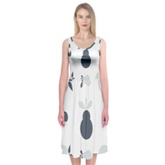 Apples Pears Continuous Midi Sleeveless Dress