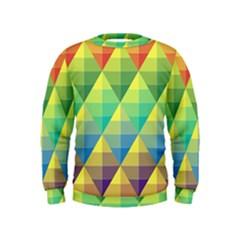 Background Colorful Geometric Triangle Kids  Sweatshirt