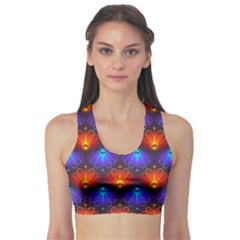 Background Colorful Abstract Sports Bra