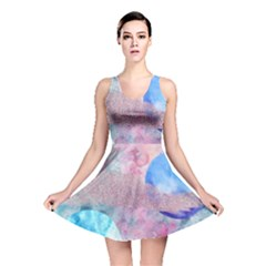 Abstract Clouds And Moon Reversible Skater Dress