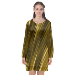 Creative Original Intention Long Sleeve Chiffon Shift Dress  by HermanTelo