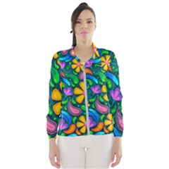Floral Paisley Background Flower Green Women s Windbreaker by HermanTelo