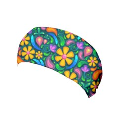Floral Paisley Background Flower Green Yoga Headband