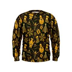 Christmas Background Gold Kids  Sweatshirt
