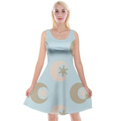 Moon Star Air Heaven Reversible Velvet Sleeveless Dress by HermanTelo