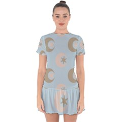 Moon Star Air Heaven Drop Hem Mini Chiffon Dress by HermanTelo
