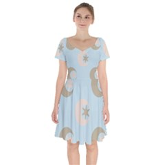 Moon Star Air Heaven Short Sleeve Bardot Dress