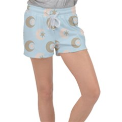 Moon Star Air Heaven Women s Velour Lounge Shorts by HermanTelo