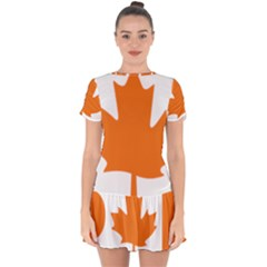 Logo Of New Democratic Party Of Canada Drop Hem Mini Chiffon Dress by abbeyz71