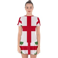 Flag Of Anglican Church Of Canada Drop Hem Mini Chiffon Dress by abbeyz71