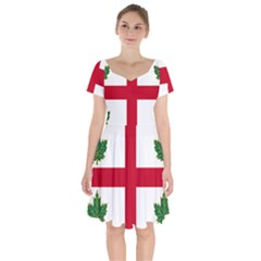 Flag Of Anglican Church Of Canada Short Sleeve Bardot Dress by abbeyz71