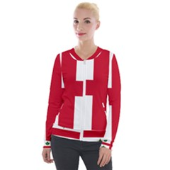 Flag Of Anglican Church Of Canada Velour Zip Up Jacket by abbeyz71