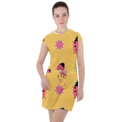 Ledy Bird Drawstring Hooded Dress by HermanTelo