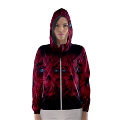 Monster Red Eyes Aggressive Fangs Ghost Women s Hooded Windbreaker by HermanTelo