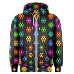 Pattern Background Colorful Design Men s Zipper Hoodie