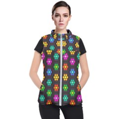 Pattern Background Colorful Design Women s Puffer Vest by HermanTelo