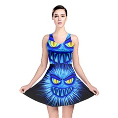 Monster Blue Attack Reversible Skater Dress