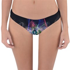 Particles Music Clef Wave Reversible Hipster Bikini Bottoms by HermanTelo