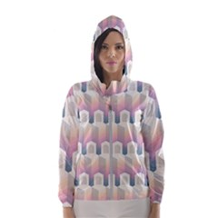 Seamless Pattern Background Entrance Women s Hooded Windbreaker by HermanTelo