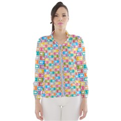 Seamless Pattern Background Abstract Rainbow Women s Windbreaker by HermanTelo